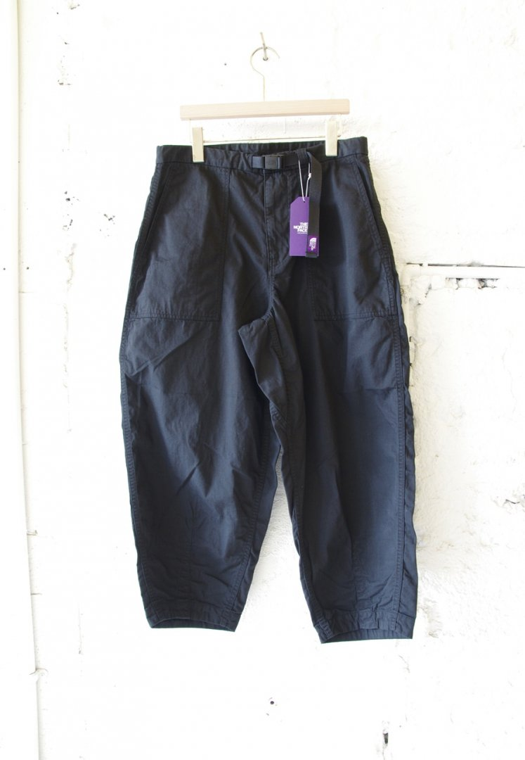 THE NORTHFACE PURPLE LABEL NT5064N RIPSTOP WIDE CROPPED PANTS [BLACK]