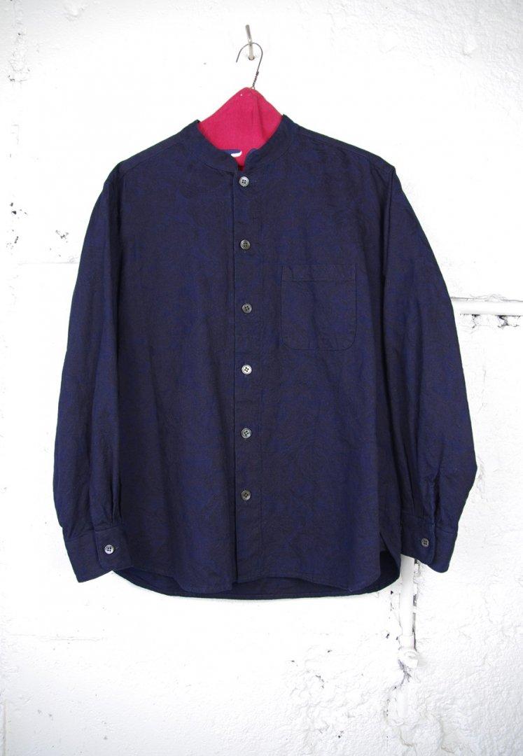 BLUE BLU JAPAN  700086848 J6604 インディゴ ジャカード オリエンタルカラー LSシャツ[INDIGO]