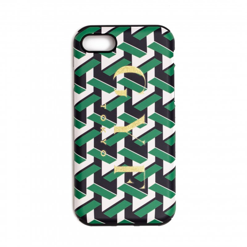 GYF TOKYO - THE GOLDEN GYF LOGO GEOMETRIC PATTERN IPHONE CASE<img class='new_mark_img2' src='https://img.shop-pro.jp/img/new/icons21.gif' style='border:none;display:inline;margin:0px;padding:0px;width:auto;' />