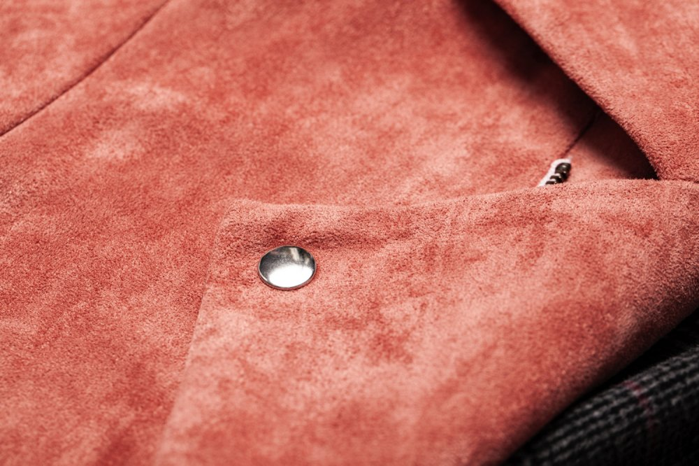 THE BIG FAKE SUEDE LEATHER JACKET (SMOKEY PINK)<img class='new_mark_img2' src='https://img.shop-pro.jp/img/new/icons21.gif' style='border:none;display:inline;margin:0px;padding:0px;width:auto;' />