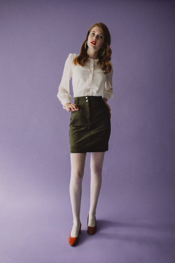 THE FAKE SUEDE LEATHER MINI SKIRT (SMOKEY PINK)<img class='new_mark_img2' src='https://img.shop-pro.jp/img/new/icons21.gif' style='border:none;display:inline;margin:0px;padding:0px;width:auto;' />