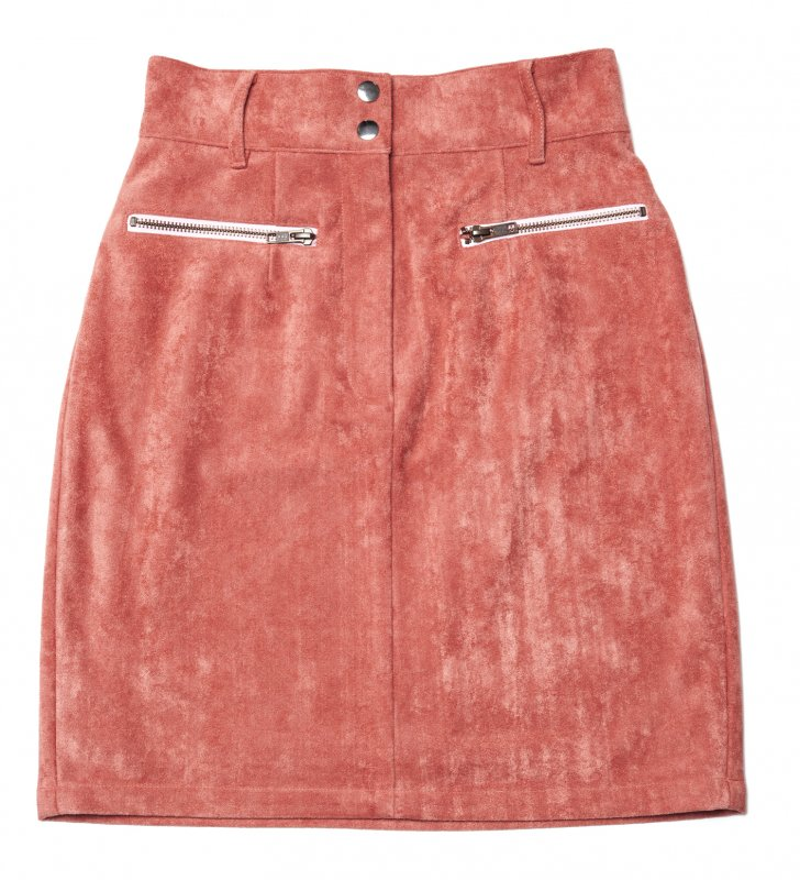 GYF TOKYO - THE FAKE SUEDE LEATHER MINI SKIRT (SMOKEY PINK)<img class='new_mark_img2' src='https://img.shop-pro.jp/img/new/icons21.gif' style='border:none;display:inline;margin:0px;padding:0px;width:auto;' />