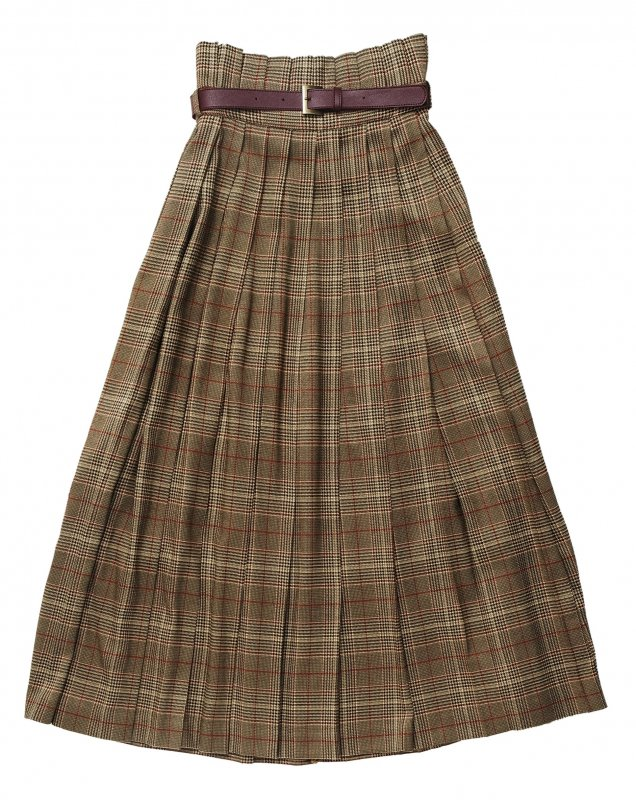 GYF TOKYO - THE CHECK PLEATED LONG SKIRT<img class='new_mark_img2' src='https://img.shop-pro.jp/img/new/icons21.gif' style='border:none;display:inline;margin:0px;padding:0px;width:auto;' />