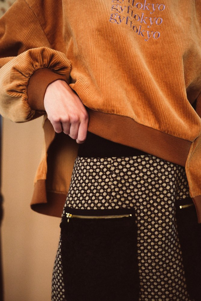 THE FUR POCKET TWEED MINI SKIRT (PINK)<img class='new_mark_img2' src='https://img.shop-pro.jp/img/new/icons21.gif' style='border:none;display:inline;margin:0px;padding:0px;width:auto;' />