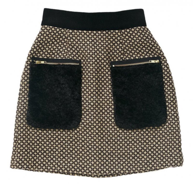 GYF TOKYO - THE FUR POCKET TWEED MINI SKIRT (BROWN)<img class='new_mark_img2' src='https://img.shop-pro.jp/img/new/icons21.gif' style='border:none;display:inline;margin:0px;padding:0px;width:auto;' />