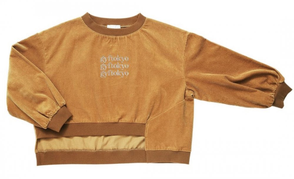 THE GYF LOGO CORDUROY TOPS (CAMEL)<img class='new_mark_img2' src='https://img.shop-pro.jp/img/new/icons21.gif' style='border:none;display:inline;margin:0px;padding:0px;width:auto;' />