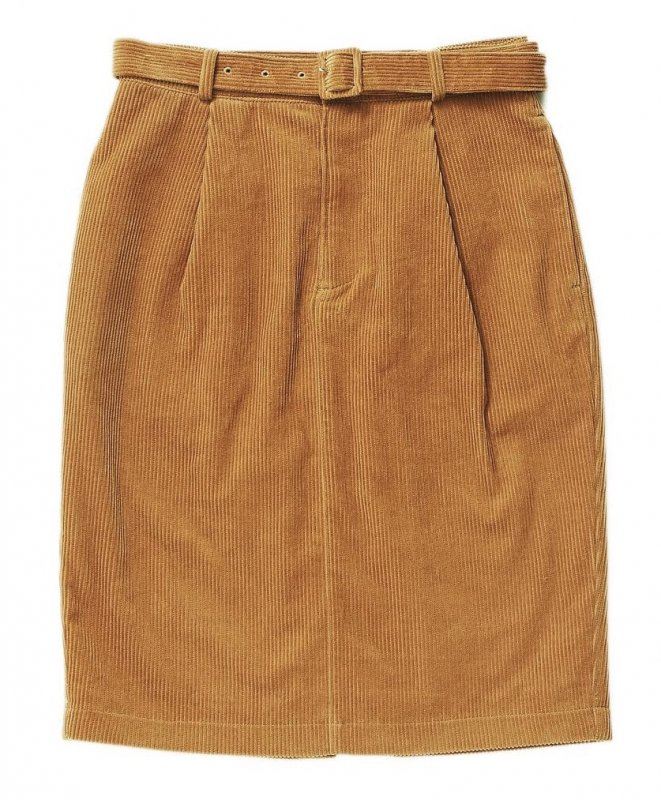 GYF TOKYO - THE CORDUROY PENCIL SKIRT (CAMEL)<img class='new_mark_img2' src='https://img.shop-pro.jp/img/new/icons21.gif' style='border:none;display:inline;margin:0px;padding:0px;width:auto;' />