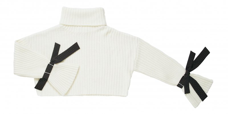 GYF TOKYO - THE VINTAGE SCARF ACCENT RIB KNIT (OFF WHITE)<img class='new_mark_img2' src='https://img.shop-pro.jp/img/new/icons21.gif' style='border:none;display:inline;margin:0px;padding:0px;width:auto;' />