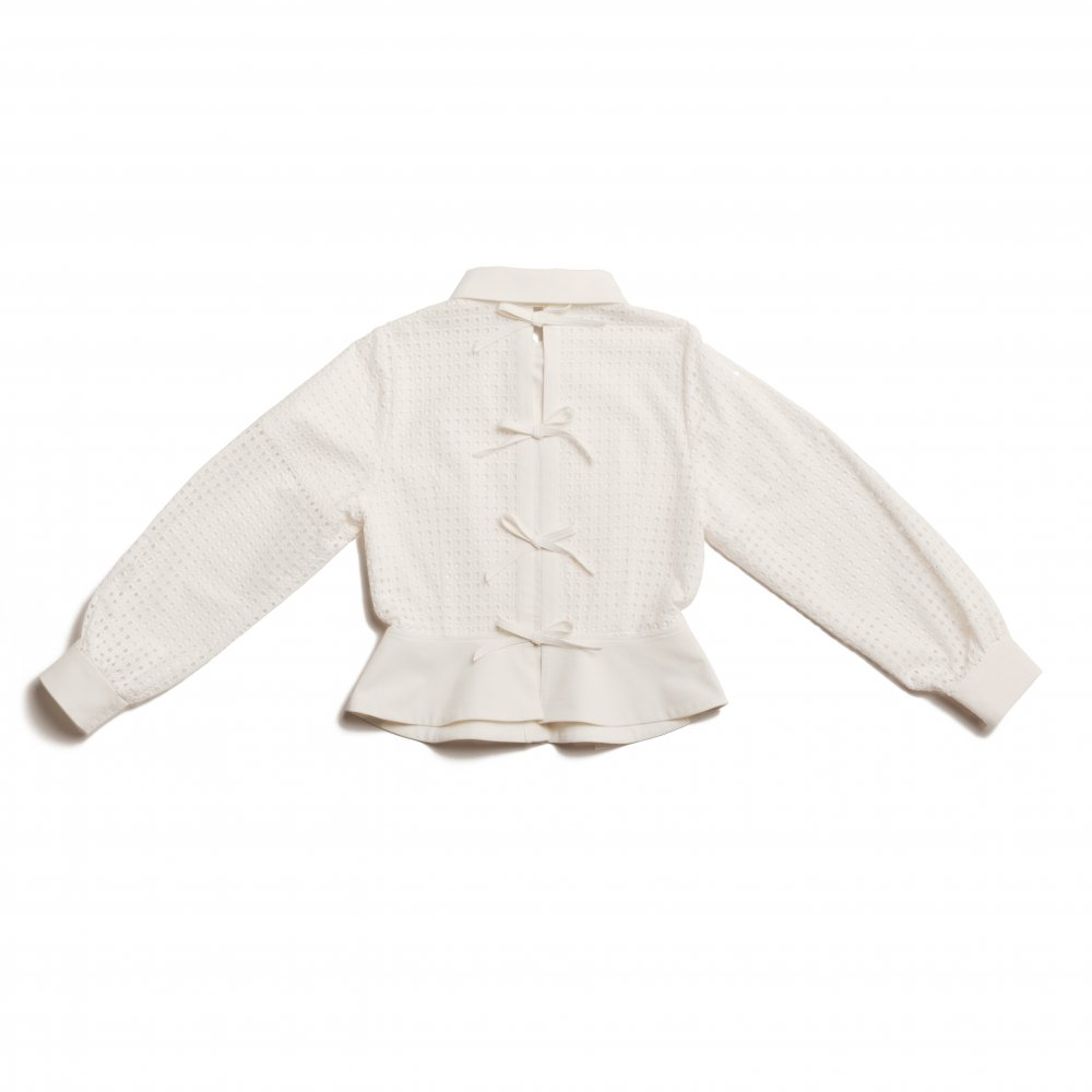 THE SQUARE SEE-THROUGH BACK RIBBON BLOUSE TOPS (WHITE)<img class='new_mark_img2' src='https://img.shop-pro.jp/img/new/icons21.gif' style='border:none;display:inline;margin:0px;padding:0px;width:auto;' />