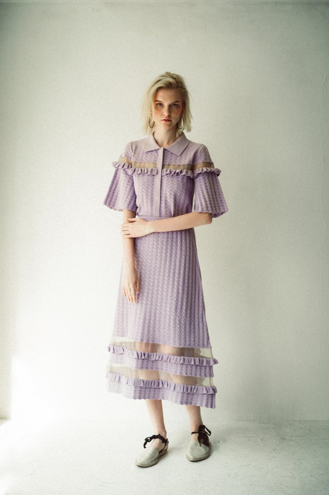 THE SEE-THROUGH SPRING KNIT FLARE SKIRT(LAVENDER)<img class='new_mark_img2' src='https://img.shop-pro.jp/img/new/icons21.gif' style='border:none;display:inline;margin:0px;padding:0px;width:auto;' />