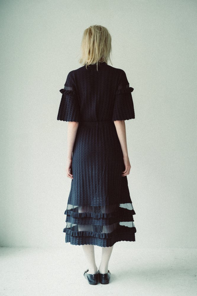THE SEE-THROUGH SPRING KNIT FLARE SKIRT(NAVY)<img class='new_mark_img2' src='https://img.shop-pro.jp/img/new/icons21.gif' style='border:none;display:inline;margin:0px;padding:0px;width:auto;' />