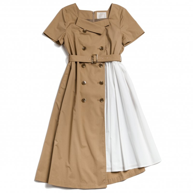 GYF TOKYO - THE TRENCH ASYMMETRY DRESS(BEIGE)<img class='new_mark_img2' src='https://img.shop-pro.jp/img/new/icons21.gif' style='border:none;display:inline;margin:0px;padding:0px;width:auto;' />
