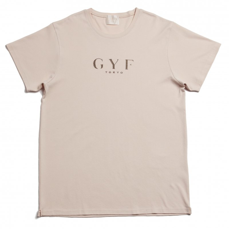 GYF TOKYO - THE GYF ORIGINAL LOGO EMBROIDERY SUPER BIG T-SHIRT(BEIGE)<img class='new_mark_img2' src='https://img.shop-pro.jp/img/new/icons21.gif' style='border:none;display:inline;margin:0px;padding:0px;width:auto;' />