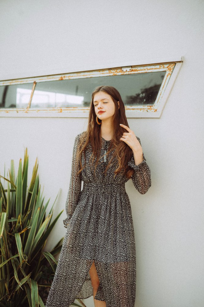 THE BLACK LEOPARD FRILL DRESS WITH INNER WEAR<img class='new_mark_img2' src='https://img.shop-pro.jp/img/new/icons21.gif' style='border:none;display:inline;margin:0px;padding:0px;width:auto;' />