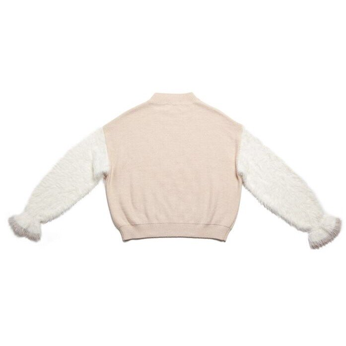 THE SHAGGY DOCKING ROUND NECK KNIT (OFF WHITE)<img class='new_mark_img2' src='https://img.shop-pro.jp/img/new/icons21.gif' style='border:none;display:inline;margin:0px;padding:0px;width:auto;' />