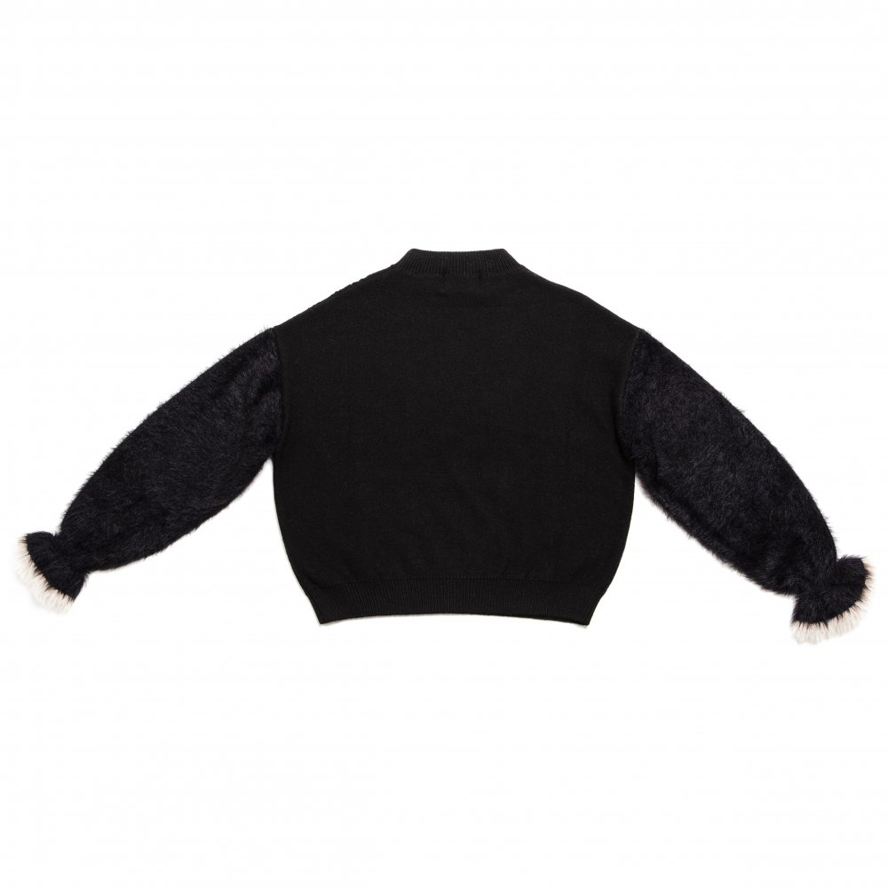 THE SHAGGY DOCKING ROUND NECK KNIT (BLACK)<img class='new_mark_img2' src='https://img.shop-pro.jp/img/new/icons21.gif' style='border:none;display:inline;margin:0px;padding:0px;width:auto;' />