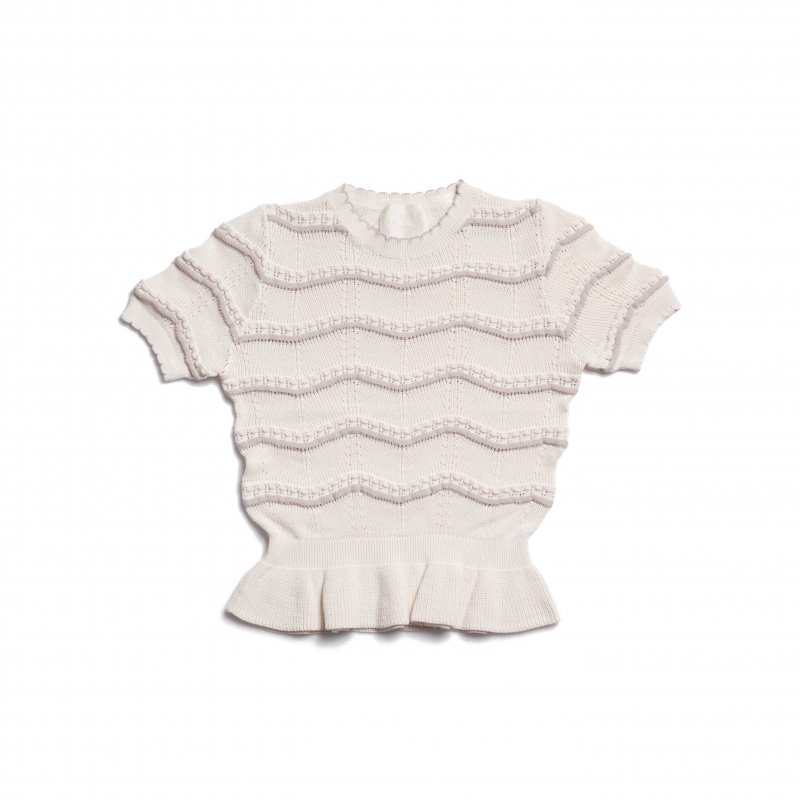 GYF TOKYO - THE SPRING KNIT PEPLUM TOPS(IVORY)<img class='new_mark_img2' src='https://img.shop-pro.jp/img/new/icons21.gif' style='border:none;display:inline;margin:0px;padding:0px;width:auto;' />