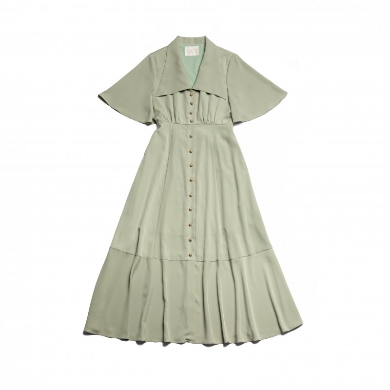 GYF TOKYO - THE TRIANGLE COLLAR MAXI DRESS (MINT)