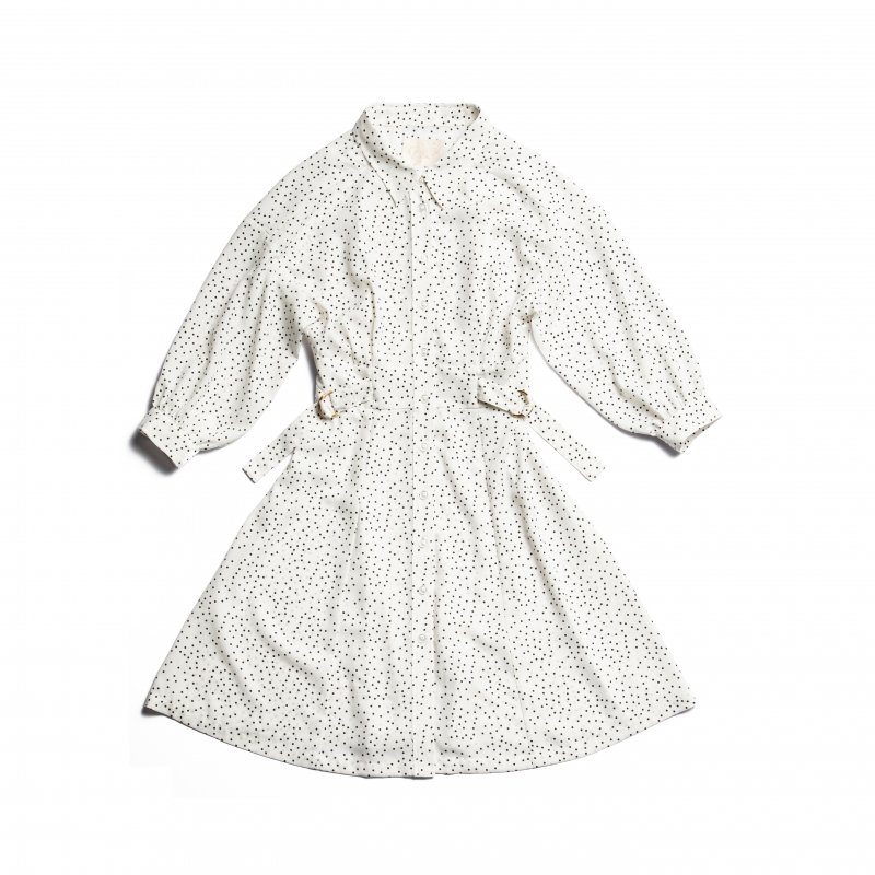 GYF TOKYO - THE SHIRT MINI DRESS(WHITE DOTS)<img class='new_mark_img2' src='https://img.shop-pro.jp/img/new/icons21.gif' style='border:none;display:inline;margin:0px;padding:0px;width:auto;' />
