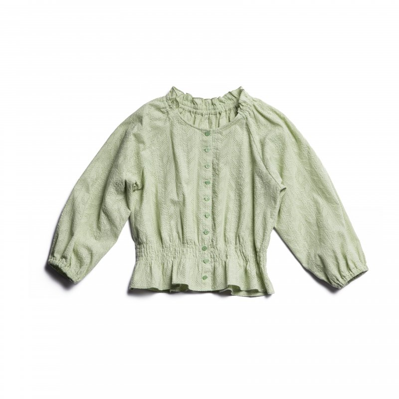 GYF TOKYO - THE COTTON LACE FRILL COLLAR BLOUSE(MINT)<img class='new_mark_img2' src='https://img.shop-pro.jp/img/new/icons21.gif' style='border:none;display:inline;margin:0px;padding:0px;width:auto;' />