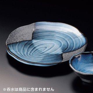 清流木目天皿 和食器 天皿 業務用 約22.5cm 和食 和風 天ぷら うどん屋 蕎麦屋