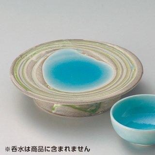 湖水青白高台皿 和食器 天皿 業務用 約19.5cm 和食 和風 天ぷら うどん屋 蕎麦屋