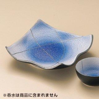 コバルト吹銀彩天皿 和食器 天皿 業務用 約17.2cm 和食 和風 天ぷら うどん屋 蕎麦屋