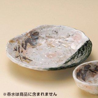 オリベ古木半月天皿 和食器 天皿 業務用 約22.5cm 和食 和風 天ぷら うどん屋 蕎麦屋