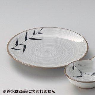 白刷毛笹7.0皿 和食器 天皿 業務用 約21.5cm 和食 和風 天ぷら うどん屋 蕎麦屋