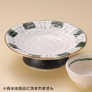 織部十草高台皿 和食器 天皿 業務用 約19.5cm 和食 和風 天ぷら うどん屋 蕎麦屋