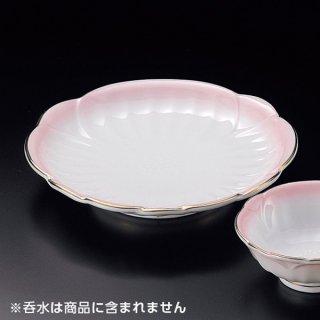 渕金ピンク吹天皿 和食器 天皿 業務用 約20.5cm 和食 和風 天ぷら うどん屋 蕎麦屋