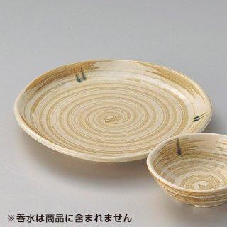 茶粉引天皿 和食器 天皿 業務用 約21.3cm 和食 和風 天ぷら うどん屋 蕎麦屋