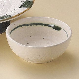 白ライン呑水 和食器 呑水・取鉢 業務用 約11cm 和食 和風 天つゆ 鍋料理 鉢 定番 割烹 料亭 うどん屋 天ぷら 鍋物