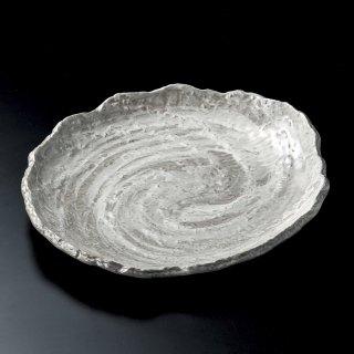うず潮10号皿 萬古焼 和食器 変型大皿 業務用 約31cm 和食 和風 宴会 揚げ物 串物 大皿 和皿 寿司屋 刺身盛り合わせ