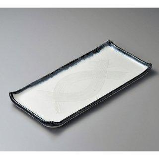 かいらぎ尺七盛込皿 和食器 長角大皿 業務用 約50cm 和食 和風 ほっけ 宴会 盛り付け皿 寿司盛り合わせ 刺身盛り合わせ