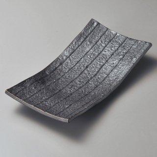 黒四足まな板皿 和食器 長角大皿 業務用 約31cm 和食 和風 ほっけ 宴会 盛り付け皿 寿司盛り合わせ 刺身盛り合わせ