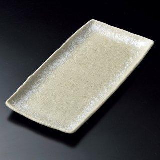 淡雪白ほっけ皿 和食器 長角大皿 業務用 約33.8cm 和食 和風 ほっけ 宴会 盛り付け皿 寿司盛り合わせ 刺身盛り合わせ