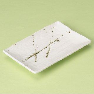 筆流 高浜焼物皿白 和食器 焼物皿 業務用 約18.7cm 和食 和風 焼魚 串物 揚げ物 創作料理 焼肉店 おにぎり 焼き鳥 天ぷら