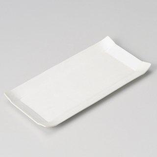パレット24cm長角皿白 和食器 焼物皿 業務用 約24cm 和食 和風 焼魚 串物 揚げ物 創作料理 焼肉店 おにぎり 焼き鳥 天ぷら