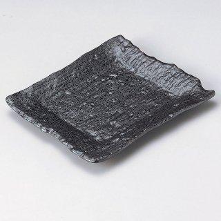 黒釉チギリ長角皿 和食器 焼物皿 業務用 約20.5cm 和食 和風 焼魚 串物 揚げ物 創作料理 焼肉店 おにぎり 焼き鳥 天ぷら