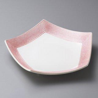 ピンク吹ラスター五角皿 小 和食器 変形皿 業務用 約16cm 和食 和風 前菜 焼き物 揚げ物 刺身 お造り
