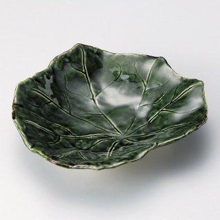 織部芙蓉7.5皿 和食器 変形皿 業務用 約23.5cm 和食 和風 前菜 焼き物 揚げ物 刺身 お造り