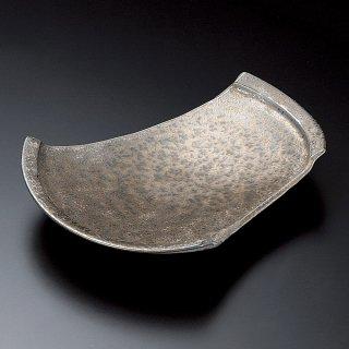 金結晶ちぎり8.5皿 和食器 変形皿 業務用 約25.5cm 和食 和風 前菜 焼き物 揚げ物 刺身 お造り