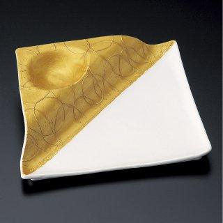 菱型パール金段付皿 和食器 変形皿 業務用 約27.3cm 和食 和風 前菜 焼き物 揚げ物 刺身 お造り