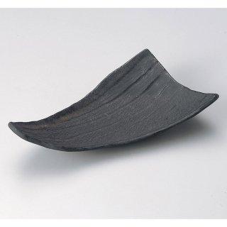 金結晶9.5寸三角皿 和食器 変形皿 業務用 約27cm 和食 和風 前菜 焼き物 揚げ物 刺身 お造り