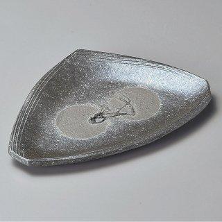 黒窯変ボタモチ9.1変形皿 信楽焼 和食器 変形皿 業務用 約27.5cm 和食 和風 前菜 焼き物 揚げ物 刺身 お造り
