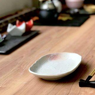 桜志野小判皿 和食器 楕円皿 業務用 約21cm 和食 和風 天ぷら 揚げ物 焼き物 パスタ