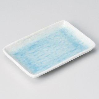 トルコブルー長角6寸皿 和食器 串皿・のり皿 業務用 約17.6cm 和食 和風 焼き鳥 揚げ物 創作料理 海苔 ホテル 天ぷら 和食レストラン 焼き鳥屋 串物