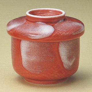 赤釉白刷毛蒸し碗 和食器 むし碗 業務用 約200cc 和食 和風 茶碗蒸し おすすめ 秋メニュー 定番 業務用 飲食店