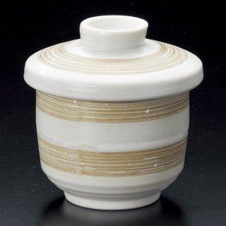 白マット刷毛目むし碗 和食器 むし碗 業務用 約230cc 和食 和風 茶碗蒸し おすすめ 秋メニュー 定番 業務用 飲食店